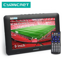 LEADSTAR 9 inch Portable TV DVB T2 ATSC ISDB T tdt Digital and Analog mini small Car Television Support USB TF PVR MP4 H.265 AC3