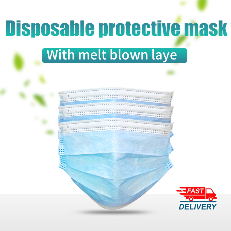 Face Mouth Masks 3 Layer Disposable Medical Protective Masks Dust