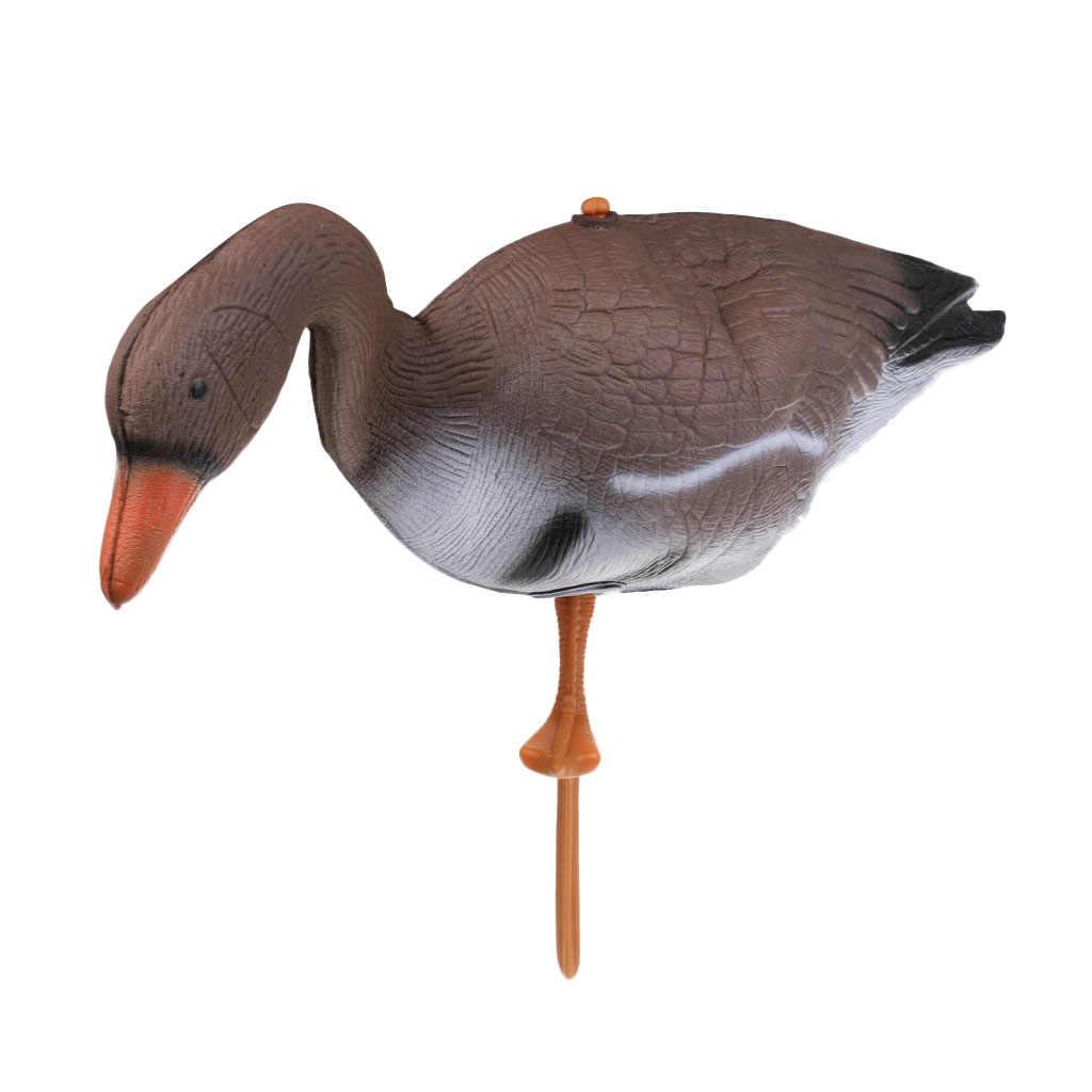 4 stücke 3D XPE Gans Jagd Decoy Goose Decoy Ziel Garten Rasen Decor Scarer Outdoor Vogel Flyer Rasen Teich Ornamente simulation
