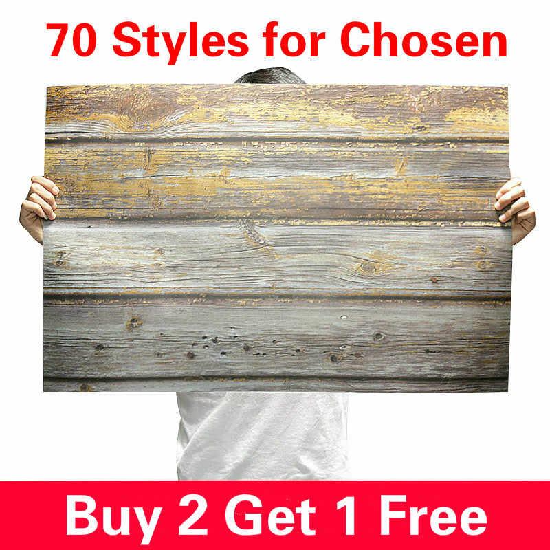 [Comprar 2 Obtener 1 gratis] 57X87cm fotografía telón de fondo 2 lados madera fondo fotográfico grano impermeable telón de fondo papel para foto de estudio