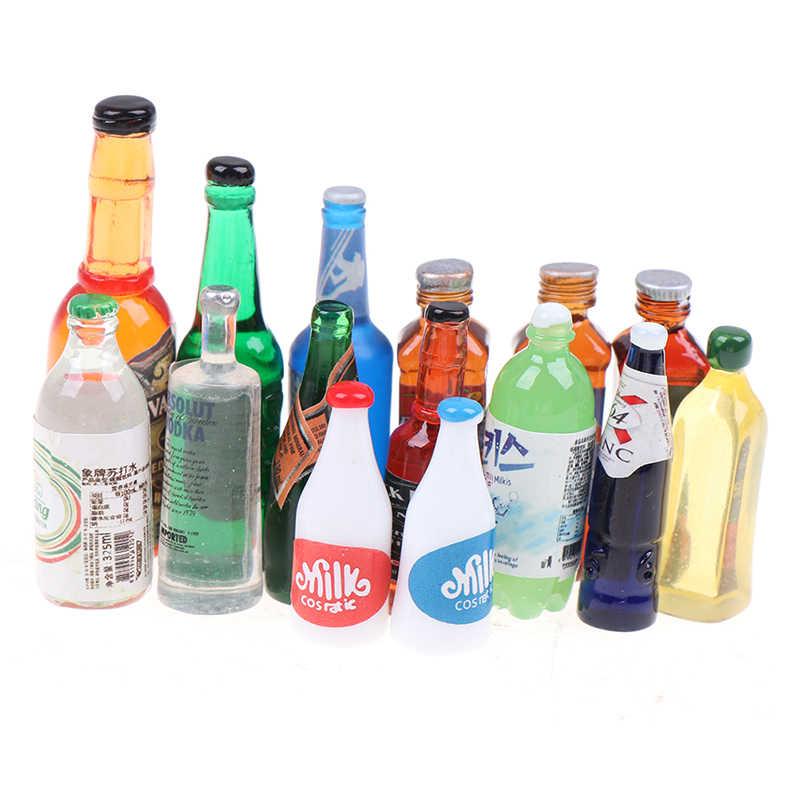 5Pcs 1:12 Dollhouse miniature drink bottles doll house kitchen accessor AF