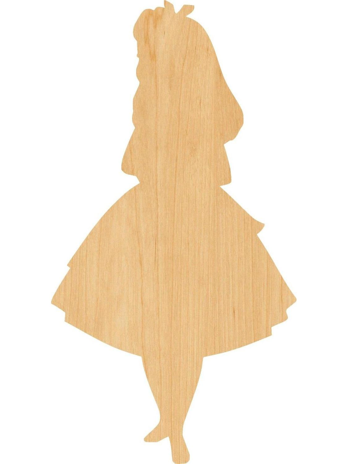 Alice In Wonderland Wooden Laser Cut Out Shape - Great For Crafting - Hobbyist - D.I.Y. Projects