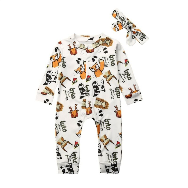 Baby Girl Boy Clothes Autumn Forest Bodysuit Romper Jumpsuit Outfits Baby One Piece Long Sleeve