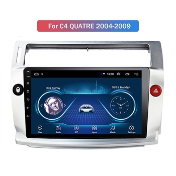 NEW-New 1+16G Android 10 Car Radio Multimedia Player for Citroen C4 C-Triomphe C-Quatre 2004-2009 GPS Navigation 2Din image
