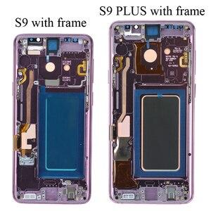 Image 5 - סופר AMOLED יש את לשרוף צל LCD עם מסגרת לסמסונג גלקסי S9 G960 S9 בתוספת G965 מגע מסך digitizer עצרת