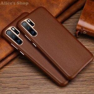 Image 5 - Oryginalny XOOMZ skrzynki pokrywa dla Huawei P30 Pro luksusowe oryginalne skórzane etui do Huawei P30/ P20/ Pro metalowe elementy tylnej okładki