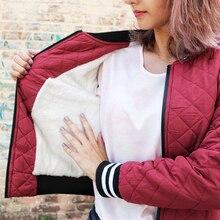 2019 Jacket Women Velvet Lamb Coat Woman Basic Parkas Outerwear Down Jackets Female For S-XXL
