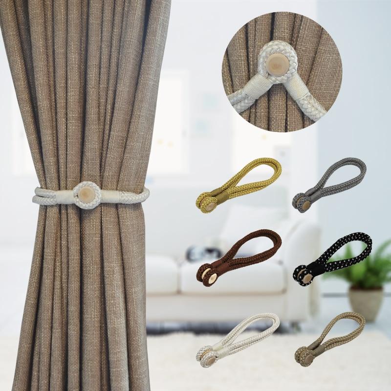 1pc Magnetic Curtain Holdback Tiebacks,Home Textile Curtain Accessories tieback holder curtain tieback