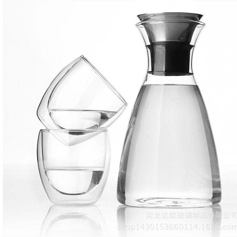 Cold Water Pot Borosilicate Heat resistant Glass Cold Water Pot New Products 1200 Ml Sample Customizable