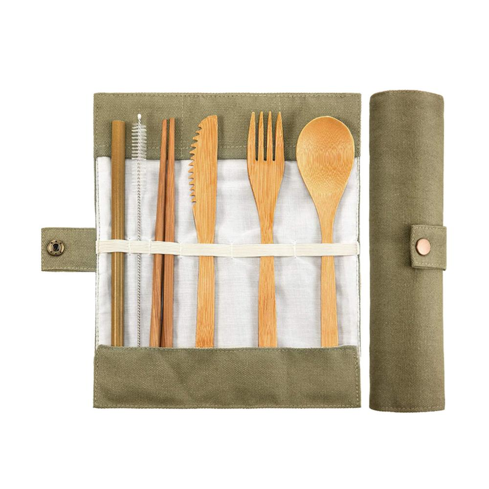 Utensils-Set Fork-Spoon-Set Tableware-Accessories Cutlery-Flatware Eco-Friendly Bamboo