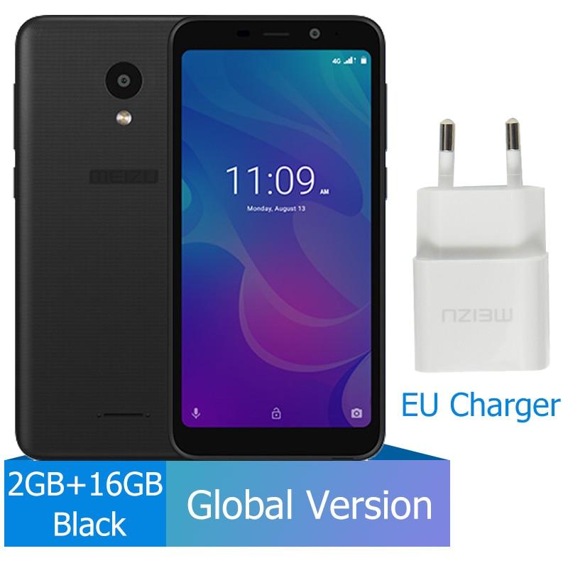 Meizu C9, 2 ГБ, 16 ГБ, глобальная версия, мобильный телефон, четырехъядерный, 5,45 дюймов, 1440X720 P, фронтальная, 8 Мп, задняя камера 13 МП, аккумулятор 3000 мАч - Цвет: 2GB 16GB Black