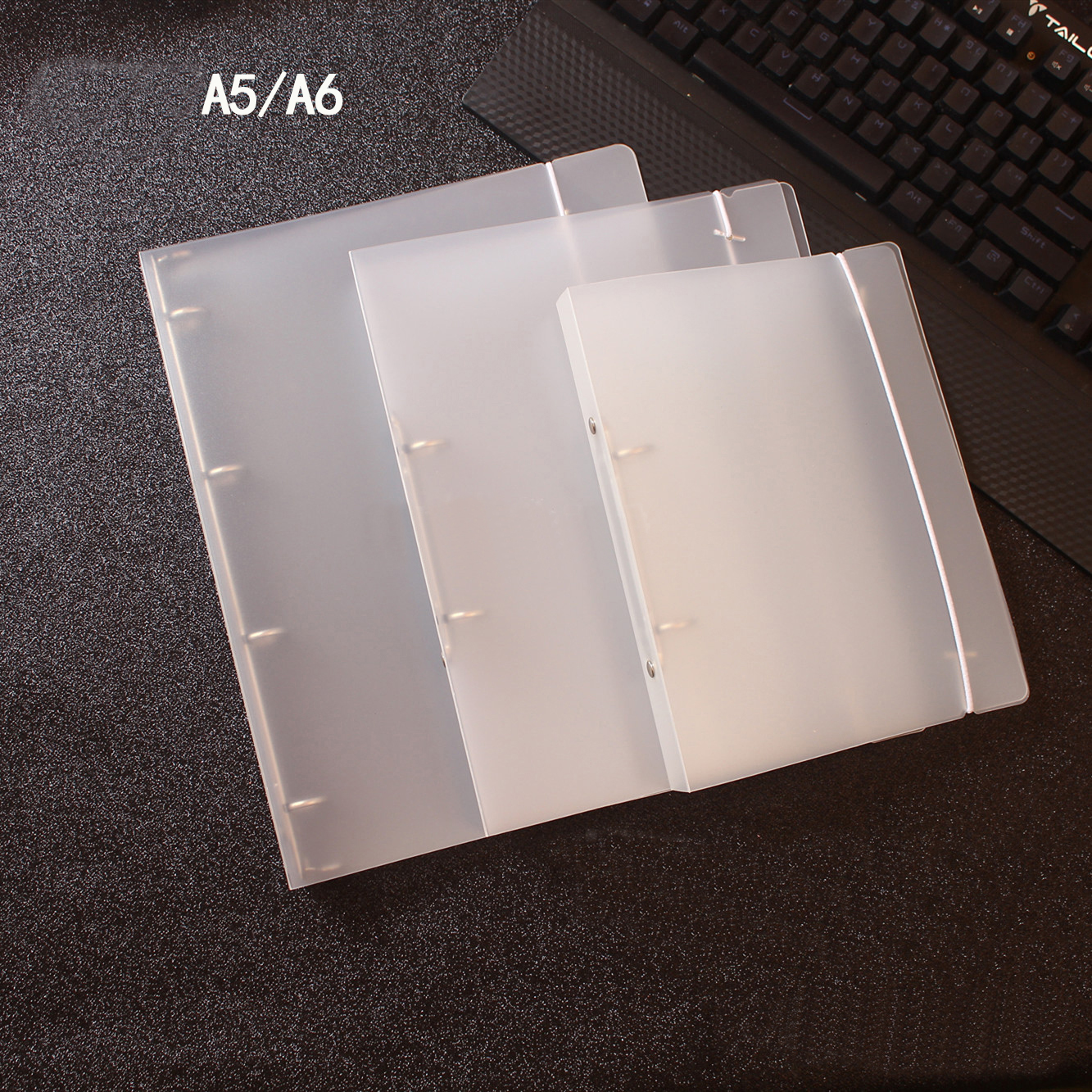 A5 A6 A7 6 Hole Ring Binder Notebook Planner PP Transparent Inner Core Cover Accessory Office School Supplies Stationery Store