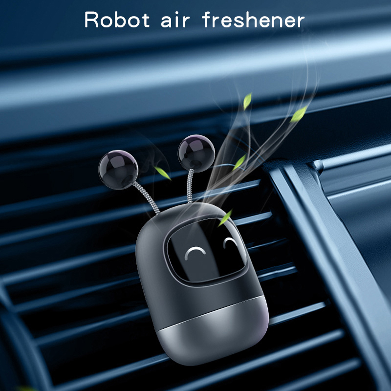 Air Freshener Car Perfume Cute Robot Solid Aromatherapy Car Diffuser Air Vent Freshener Deodorant Auto Interior Decor Accessorie