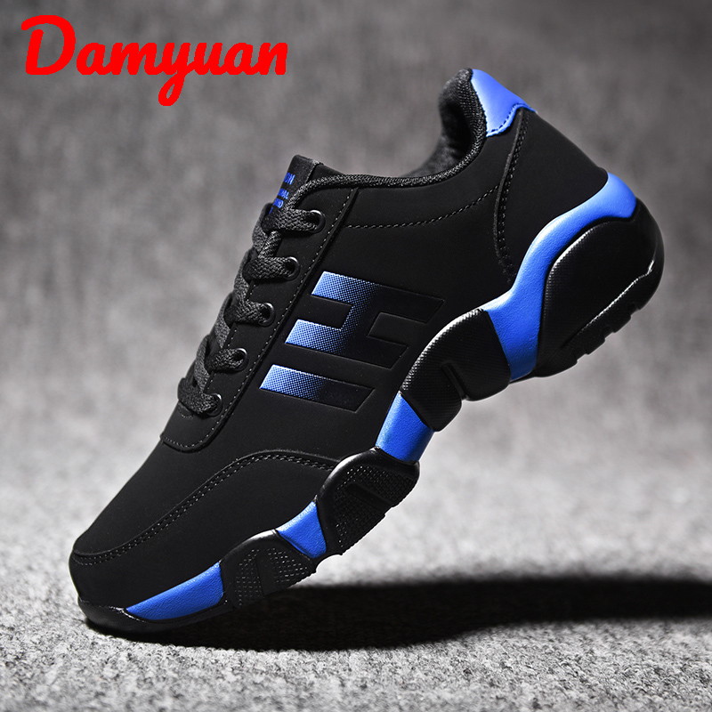 Damyuan 2020 Fall Winter New Fashion Warm Leather Man Sneakers Outdoor Walking Slip-proof Comfortable Leisure Running Shoes