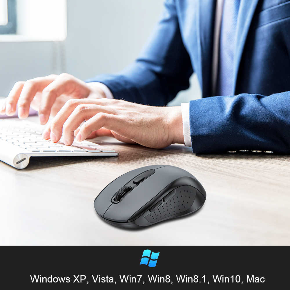 TeckNet 2.0 USB Mouse Senza Fili Del Mouse Del Computer Con Ricevitore Wireless 2.4G Mouse 2000DPI 10M SUPER-Mouse Per Computer senza fili PC Del Computer Portatile