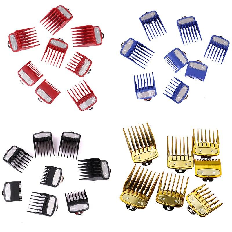 Metal Hair Clipper Attachment Comb Replacement Hair Clipper Guard Hair Cutting 8 Sizes Hair Clipper Limit Guide Comb Set