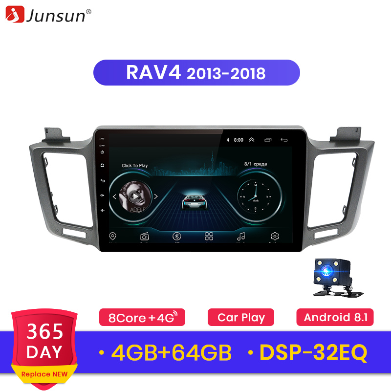 Junsun Android 9 0 for Toyota RAV4 2013 2018 Auto 2 Din Car Radio Stereo Player
