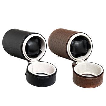 PU Leather Auto Silent Mechanical Wrist Watch Winder Box Storage Case