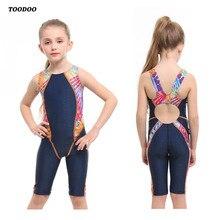 Профессиональный цельный купальный костюм для девочек, детский купальный костюм, высокое качество, стрейчевая профессиональная ткань