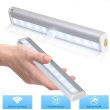 Lumière LED à capteur de mouvement PIR 6/10, veilleuse sous-meuble pour garde-robe, veilleuse intelligente pour placard et escaliers