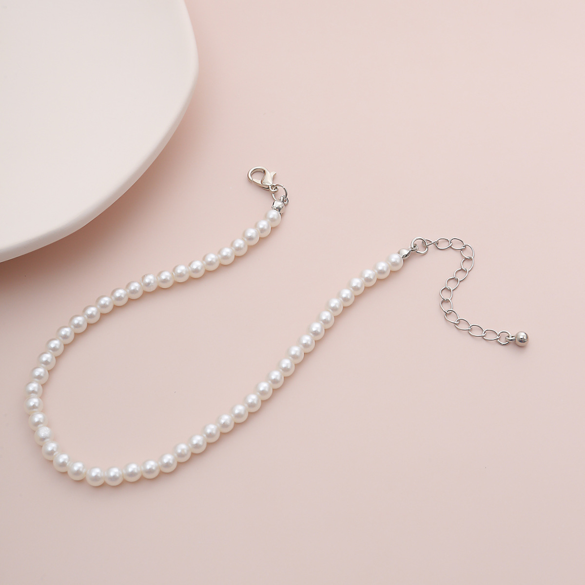 Bohemian Simulated Pearl Anklet Bracelet for Women Charm Ankle Chain Barefoot Sandals On Foot Leg Jewelry