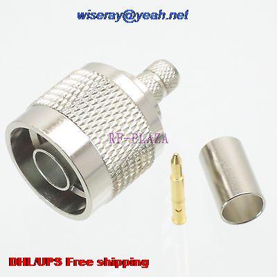 DHL/EMS 100pcs Connector N Male Plug Crimp RG8X RG-8X LMR240 Cable Straight -A3