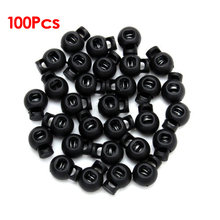 100 x черные замки со шнуром переключаются круглые