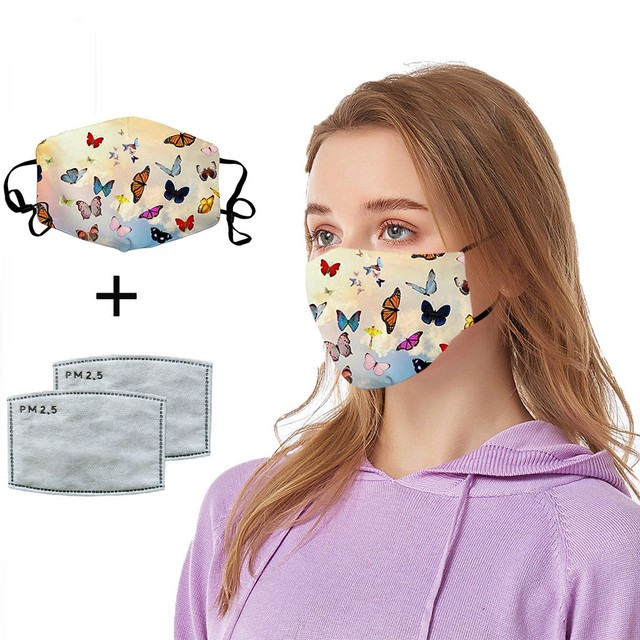 #H25 women Cotton PM 2.5 mouth Mask anti dust mask Activated carbon filter Windproof Mouth-muffle proof Face masks Care 2