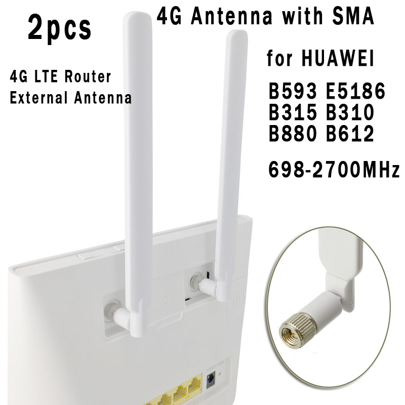 2PCS 4G WIFI Antenna SMA Male 5 DBi High Gain LTE Router External Antenna For Huawei B593 B315 B310 698-2700MHz Signal Booster