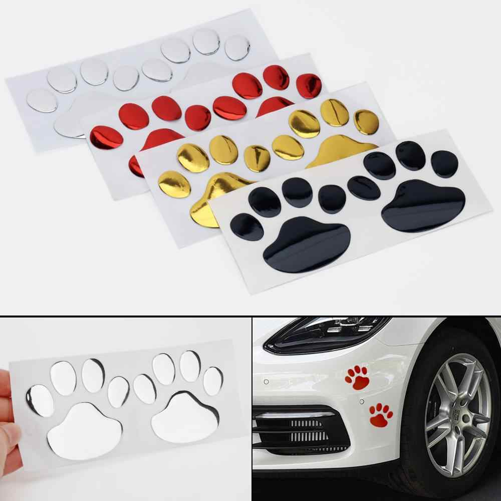 Autocollant de voiture Cool Design patte 3D Animal chien chat ours pied imprime empreinte 3M décalcomanie voiture autocollants pour Auto moto
