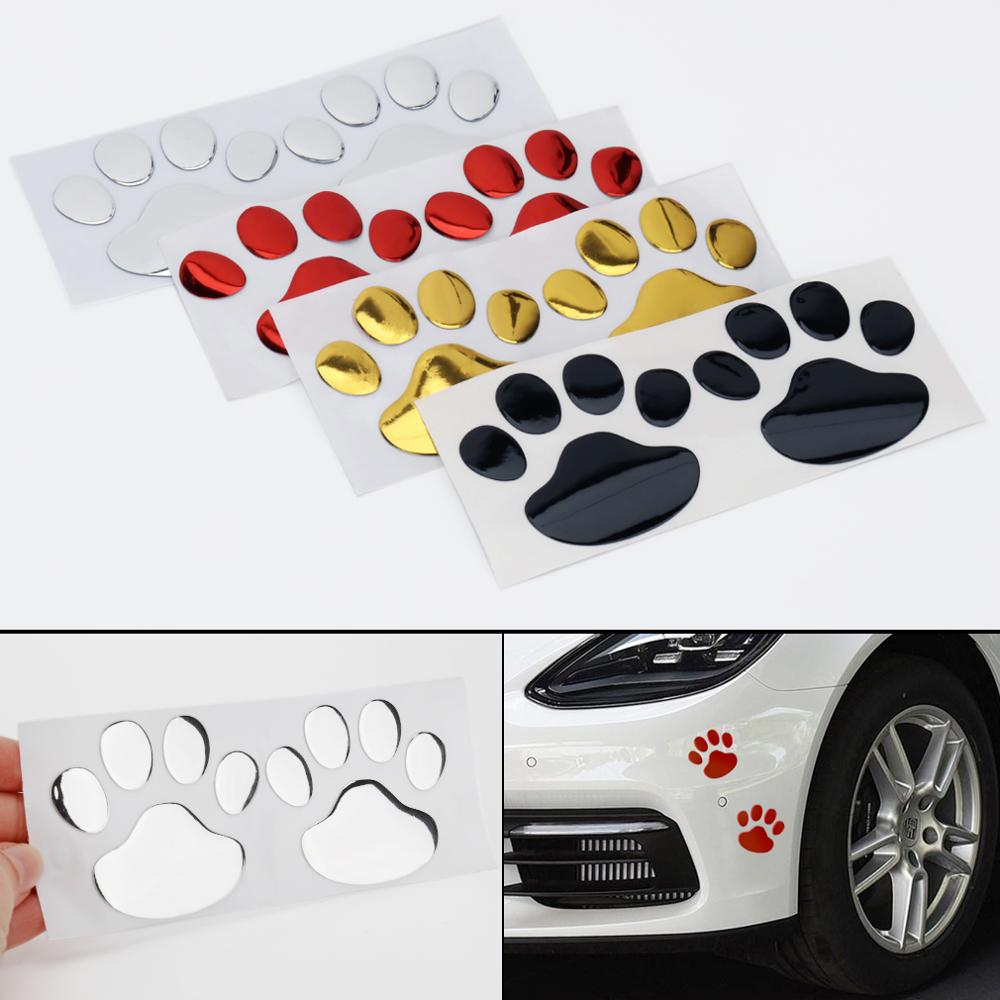 Car Sticker Cool Design Paw 3D Animal Dog Cat Bear Foot Prints Footprint 3M Decal Car Stickers for Auto Motorcycle