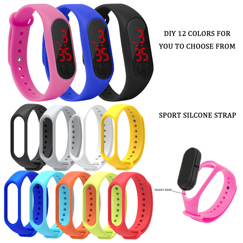 Child Watches New LED Digital Wrist Watch Bracelet Kids Outdoor Sports Watch For Boys Girls Electronic Date Clock часы детские