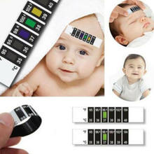 Reusable Forehead Thermometer Changing Color Body Fluid Strip Fever Baby Child Adult Test Temperature Meter for Baby(China)
