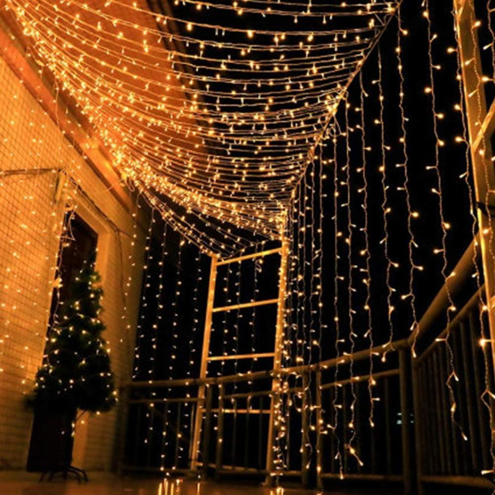 10-50M LED String Lights Outdoor Street Light EU Plug Holiday Lighting Garland Decors For Garden Xmas Christmas Wedding Party
