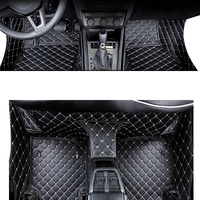 Lsrtw2017 Leather Car Floor Mat Foot Mat for Skoda Octavia 2018 2019 2020 Interior Rug Carpet