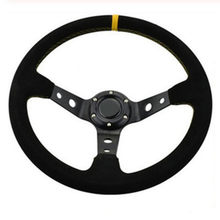 Top racing sports14''steering rad Wildleder Leder lenkrad Deep Dish Racing Sport Lenkrad(China)