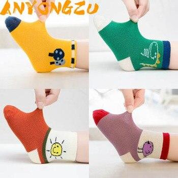 10 Uds = 5 pares de calcetines para niños de primavera y verano de malla de animales de dibujos animados de bebé calcetines de bebé de rayas de fruta muy bonitos 0-1T 1-3T 3-5T