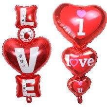 Me encanta U Globo Rojo amor corazón globos de Día de San Valentín decoración de regalo para el amante de la decoraciones para bodas cumpleaños