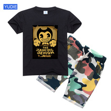 Boys Clothing Set BENDY T Shiirt Kids Clothes Summer Children Toddler Baby Girl Set Boy Short Sleeve Fashion Baby Clothing Suits цена 2017