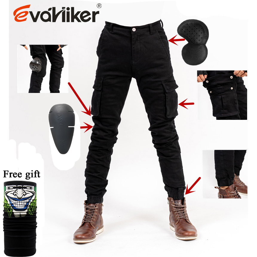 Motorcycle coveralls Jeans Drop Resistance Slim Denim Cycling Racing Pants Motocross moto dungarees Pants Motorcycle Cargo Pants|Trousers| |  - title=