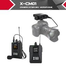 XTUGA UHF Беспроводной петличный микрофон с 16 выбираемыми каналами поставляется с двумя 3,5 мм кабелями до футов диапазона для DSLR камеры