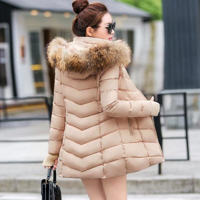 Fashion Winter Jas Vrouwen Grote Bont Riem Hooded Dikke Down Parka X-Lange Vrouwelijke Jas Jas Slanke Warme Winter uitloper 2019 Nieuwe