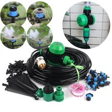 40m~5m Garden Timer Watering Kits Automatic Irrigation System DIY Gardening Micro Irrigation Kits Adjutable Fountain Sprinklers(China)