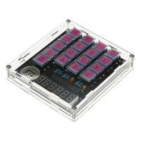 Diy Calculator Kit Digital Tube Calculator with Transparent Case Built in Cr2032 Button Cell-in Taschenrechner aus Computer und Büro bei