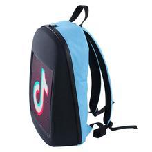 Mochila de publicidad con pantalla LED inteligente WiFi, mochila LED de ciudad dinámica DIY para caminar al aire libre, mochila impermeable para publicidad