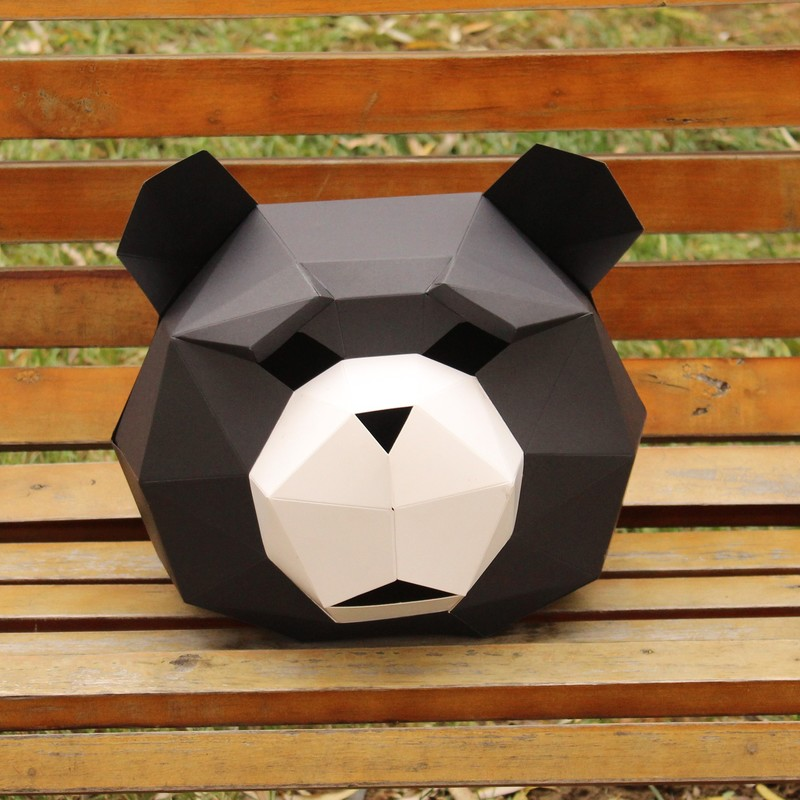 Novelty Funny Panda Origami Animal Mask Party Supplies Decompression Toy To Send Tools Children's Educational Gifts