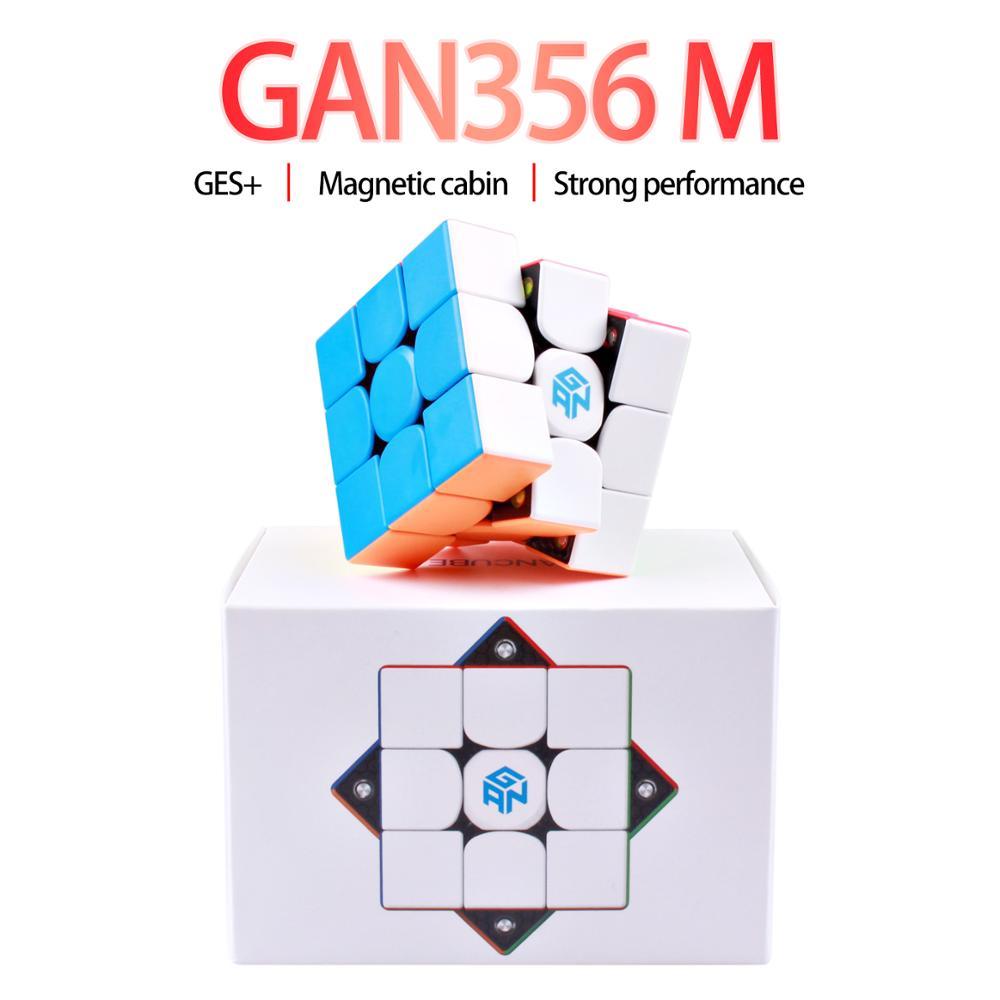 Gan356 M 3x3x3 Magic Magnetic Cube Stickerless Gan356M Professional GAN 356 M Speed Cube Magnets 3x3 Puzzle Cube Gans