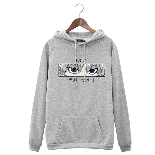 Women Hoodies Hunter X Hunter Women Pullovers Hoodies Sweatshirts Killua Zoldyck Devil Eye Print Anime Hoody Streetwear Tops 5