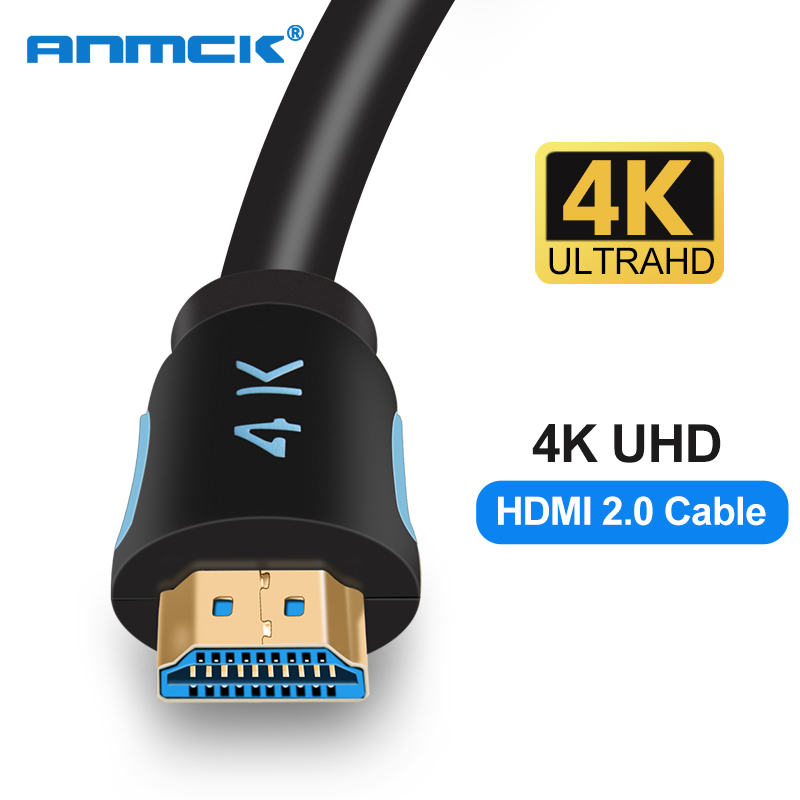 Anmck hdmi кабель 4k 2,0 HDMI для HDMI 3m 5m 8m 10m 15m Поддержка ARC 3D HDR 4K 60Hz Ultra HD для Splitter Switch PS4 TV Box проектор