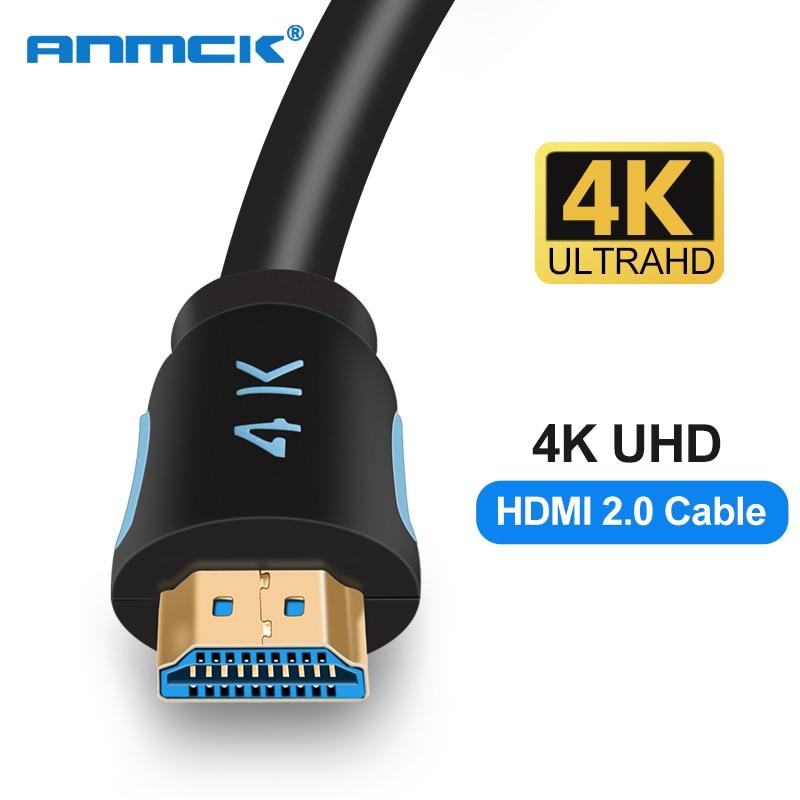 Anmck hdmi кабель 4k 2,0 HDMI для HDMI 3m 5m 8m 10m 15m Поддержка ARC 3D HDR 4K 60Hz Ultra HD для Splitter Switch PS4 TV Box проектор